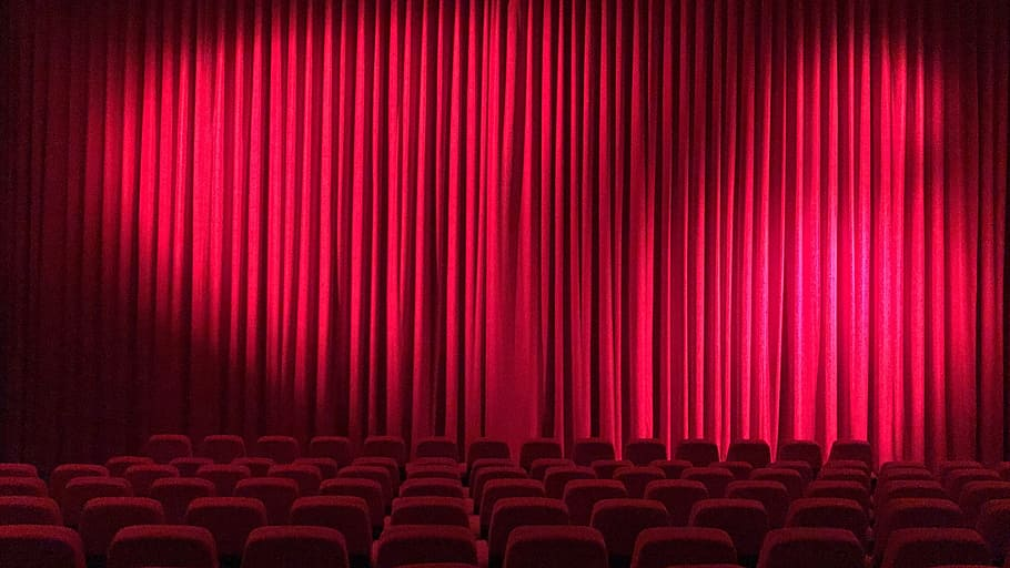 Movie theatre curtain